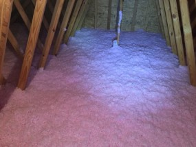 Picture of Blown in insulation in attic