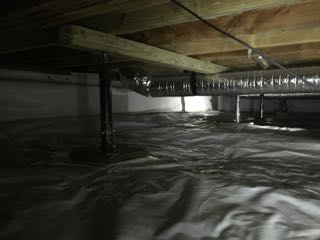 Image of Crawl Space Repair Before and After