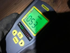 Damp crawl space affects wood moisture levels